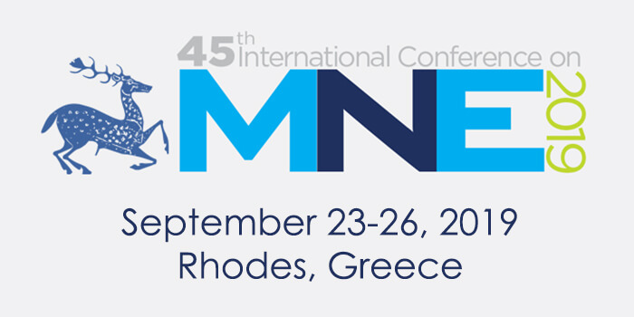 MNE 2019, 23-26 Sept. 2019, Rhodes, Greece
